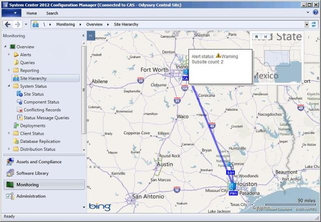Geographical view of SCCM Sites in SCCM 2012 !! New Feature of SCCM
