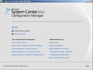 SCCM Central Site Installation