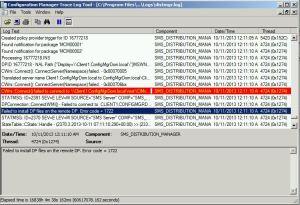 Distribution Point Installtion Error 1