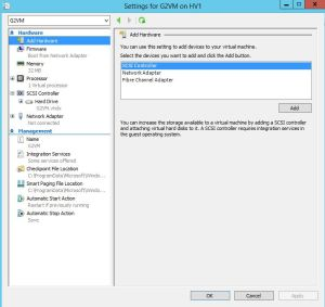Second Generation Virtual Machines in Windows Server 2012