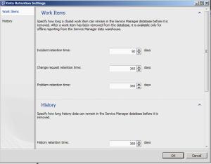 Data Retention in SCSM 2