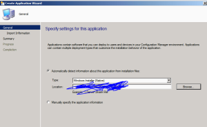 Create Application SCCM 2