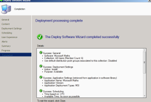 Deploying Application SCCM 5