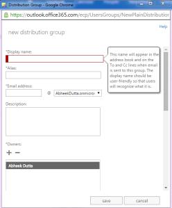 Distribution Group Exchange 2013 Online 1