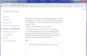 Distribution Group Exchange 2013 Online 8