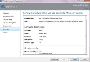 Software Deployment Using Intune